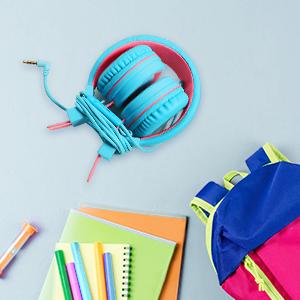 over ear children headphones for school