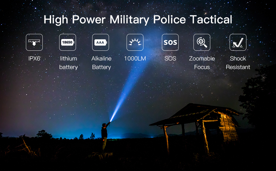 Multi mode Flashlight,Multifunction Flashlight,Zoom Flashlight,Flashlight, impermeable Flashlight