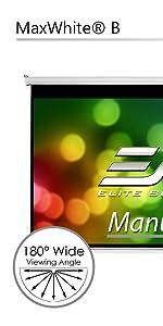 manual B pull down projector screen