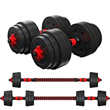 adjustable dumbbell barbell workout gym tool home exercise