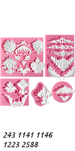 Baroque Style Molds Set 5-count