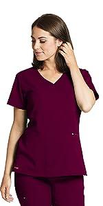 barco grey's anatomy spandex stretch grst001 women's v-neck scrub top