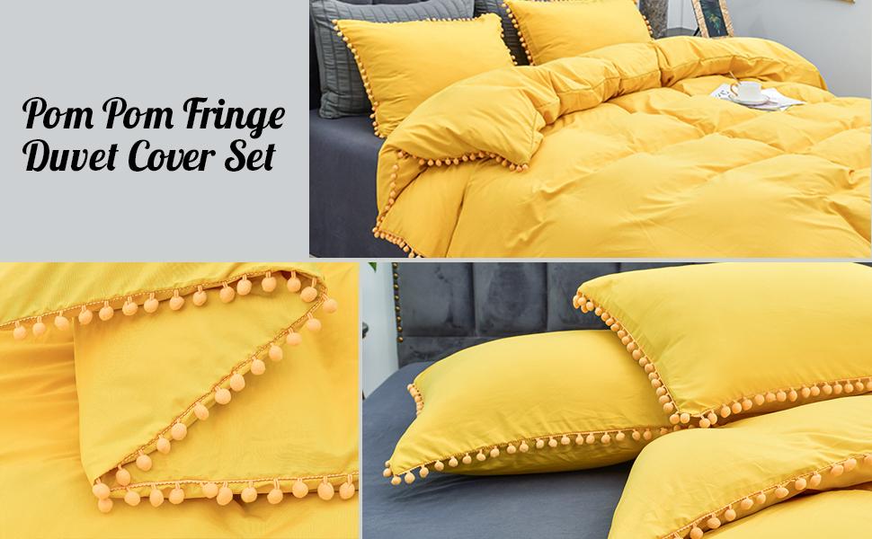 yellow duvet cover set