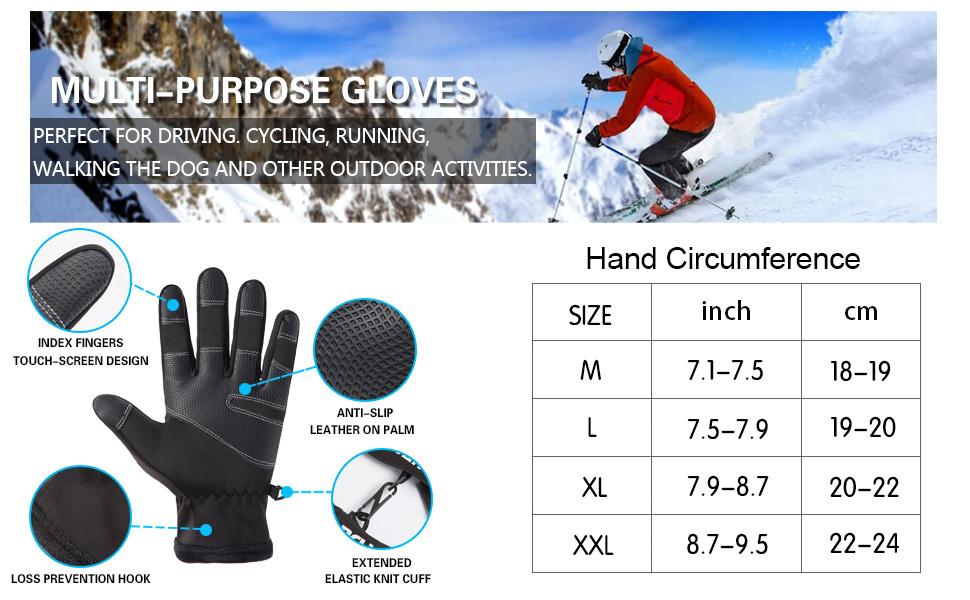 warm work gloves for men