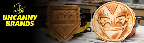 Uncanny Brands KISS Waffle Maker