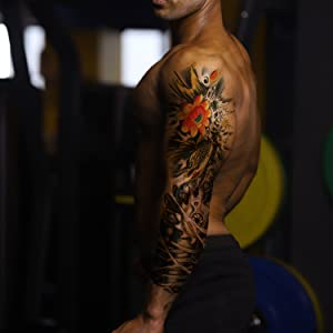Large Full Arm Temporary Tattoos for Adults