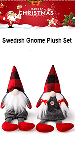 Swedish Gnome Plush Set of 2