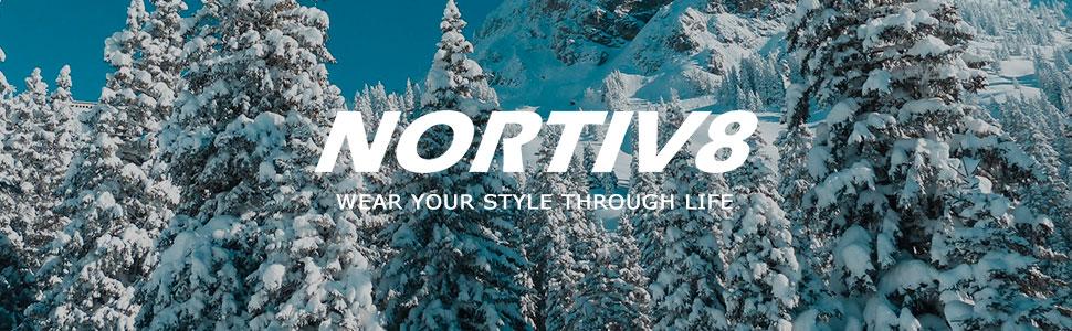 NORTIV 8 Men's 170390 Insulated Waterproof Work Snow Boots
