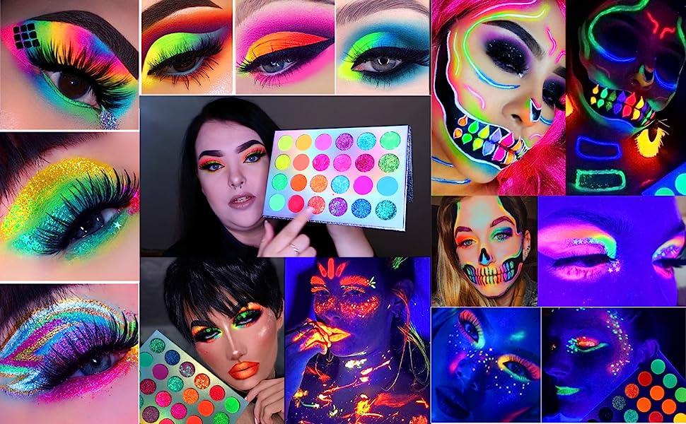 Docolor High Pigmented Makeup Palette,Easy to Blend Color Shimmer Eyeshadow Waterproof Eye Shadows