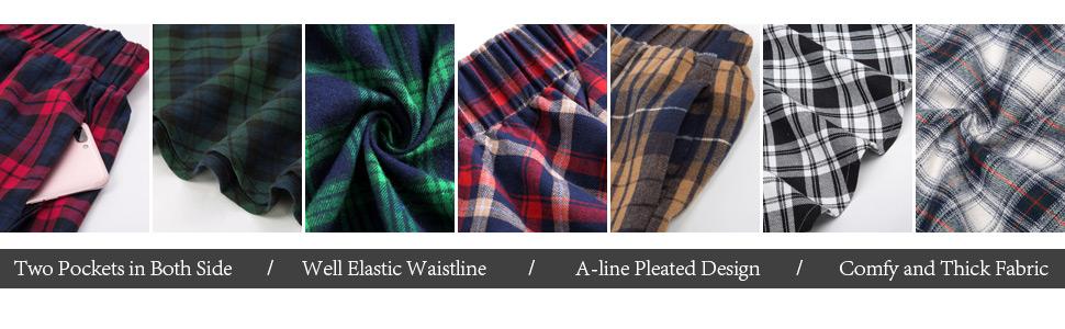 VNTG Plaid pattern Mid calf Skirt  Jupe vintage carott\u00e9e