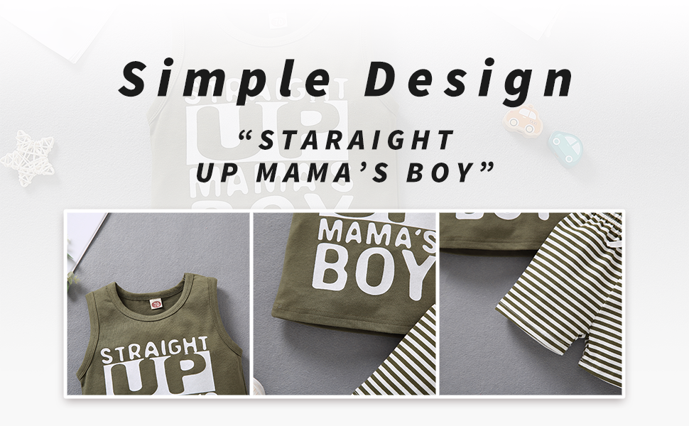 Baby Boy Straight Up Mama's Boy Clothes