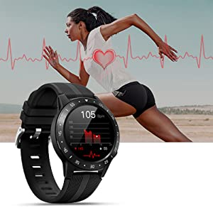 smart watch with heart rate  Anmino Smart Watch (GPS +Barometer+Altimeter+Compass),Full HD Touchscreen,All-Day Heart Rate and Activity Fitness Tracker,Pedometer,Calorie Counter,Sleep Tracker,Bluetooth smartwatch c643dbe8 897f 43d0 9432 fb43be54ec1b