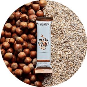 foodspring Barrita Proteica Vegana, Chia et citron, 12 x 60g, Barrita proteica de origen vegetal sin aromas artificiales, bajo en azúcar y alto en ...