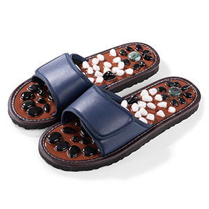 blue color stone massage slippers