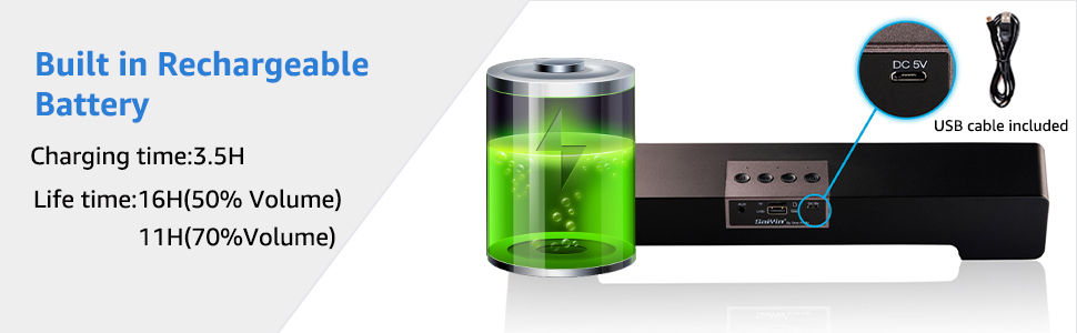 Built in Rechargeable Battery