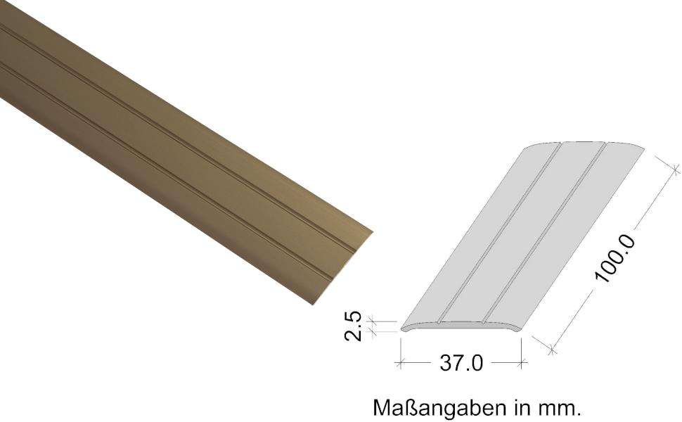 Ausgleichsprofil gelocht L/änge 200 cm Bodenprofil Alu Bronze T/ürschwelle 1 St/ück Gedotec /Übergangsprofil Aluminium Boden-Leiste zum Schrauben /Übergangs-Schiene f/ür Fu/ßb/öden Breite 37 mm