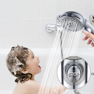 shower head with pause switch