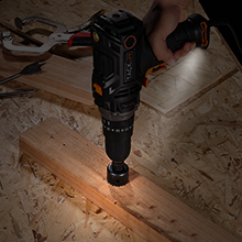 LED IN HAMMER DRILL