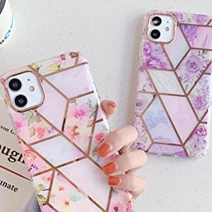 iPhone 11 backcover case floral girl