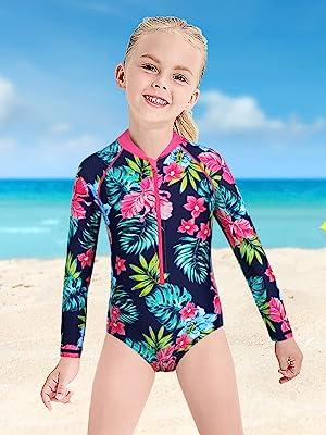 girls rash guard swimsuit