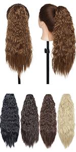 Curly drawstring ponytail