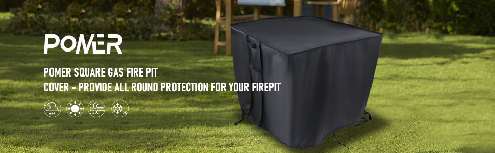 POMER Fire Pit Cover Square