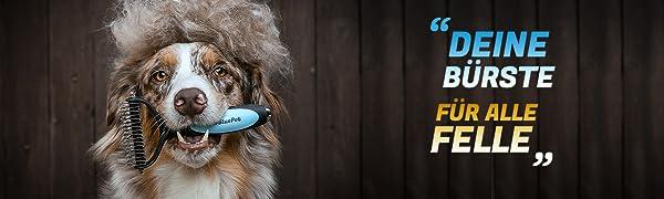 BluePet szczotka dla psów, kota, szczotka do podfutra, szczotka do krótkich włosów i długich włosów, koty.
