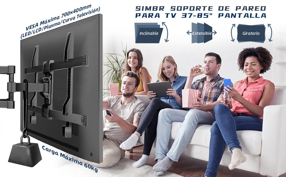 SIMBR Soporte de Pared para TV 37-85