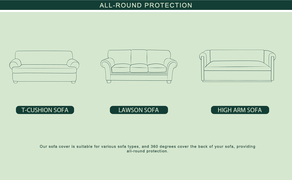 sofa cover with skirt