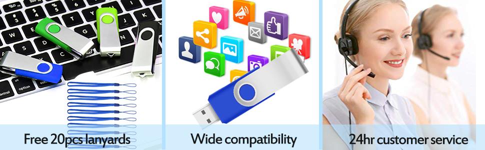 Kootion 20pcs 4GB USB Flash Drive