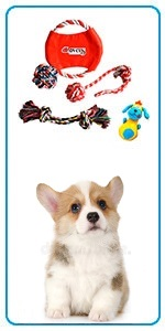 Dog Toys for Puppies, Pet Toys Small Dogs, Dog Rope Toys for Puppies Teething, Squeaky Toy for Pups