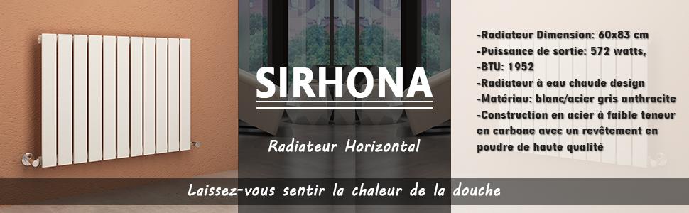 SIRHONA Radiateur Mural 60 x 83 cm Radiateur de Chauffage ...