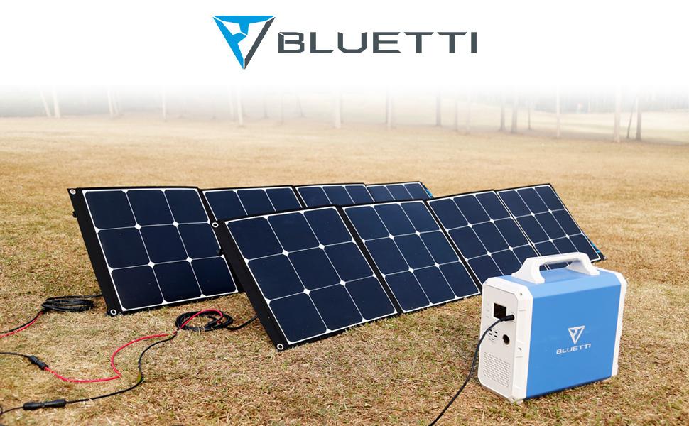 bluetti eb240 portable power station solar generator rv soar panel