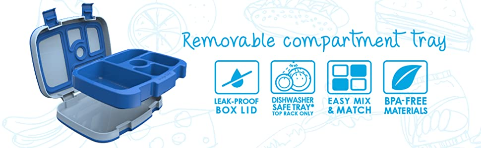 BGOKIDS, BENTGO, Bentgo Kids, Kids Lunch Box, Bento Lunch Box, Leak-proof Lunch Box