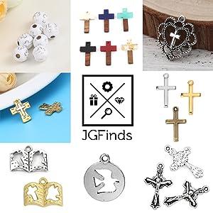 cross dove heart bible christian religious symbol charm spacer beads pendants
