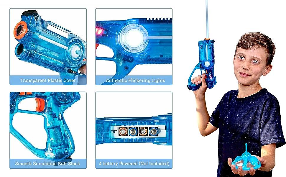 blue toy gun boy