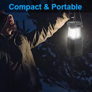 LED solar camping lantern hand crank