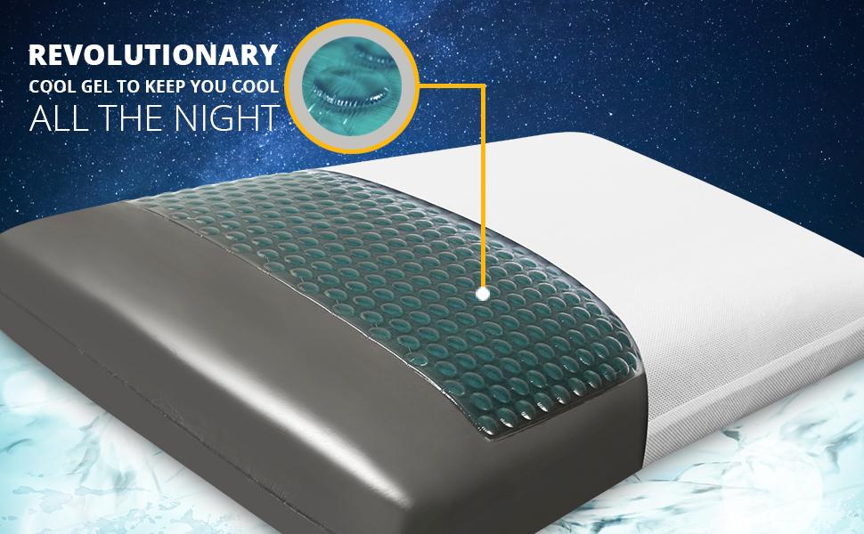 Solara Memory Foam pillow, Orthopedic Pillow, Pillow set of 2