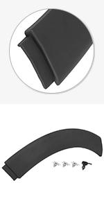 X AUTOHAUX Wheel Arch Trim Fender Rear Left Black 51131505865 for Car
