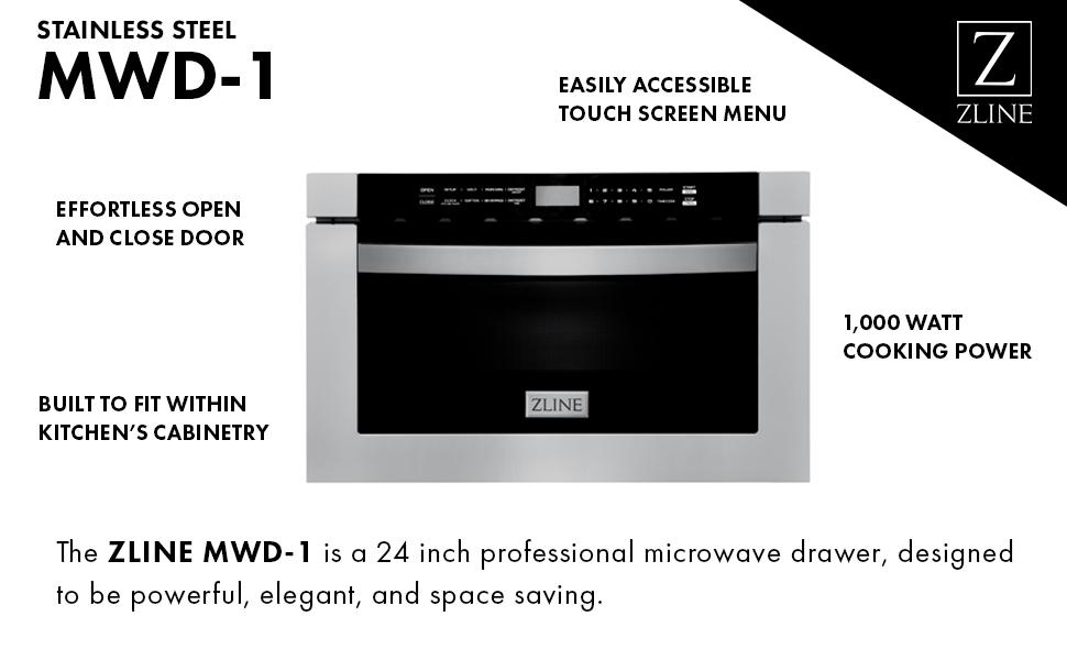 zline 24 1 2 cu ft built in microwave drawer in stainless steel