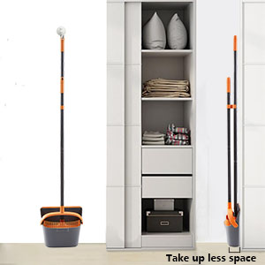 long handled broom lobby Ahomxin Broom and Dustpan Set Cleaning Supplies