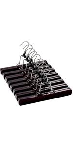wooden skirt hangers 20PACK Brown