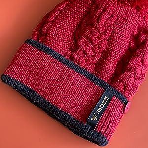 cuffed beanie warm winter women hats pom pompom beret muffler scarf neck warmer rofozzi purple relic