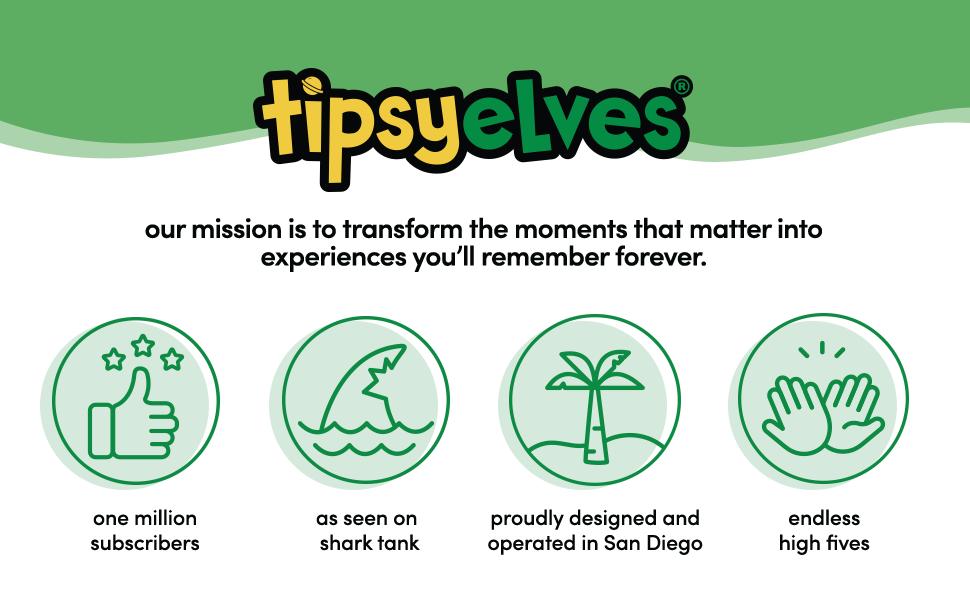 Tipsy Elves logo header Shark Tank company