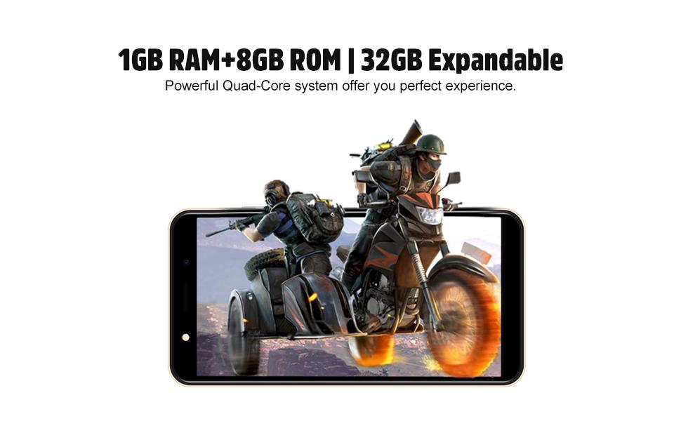 1gb ram 8gb rom smartphone