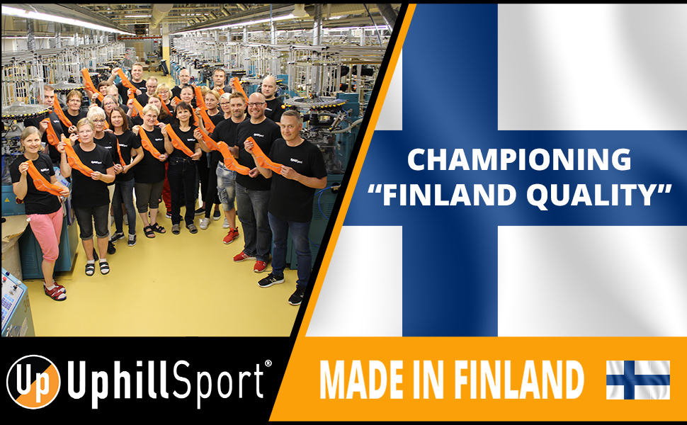 UphillSport Factory Team Photo from Finland Summer 2019 - Quality has its friends