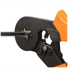 Crimp using the tool for insulated connectors