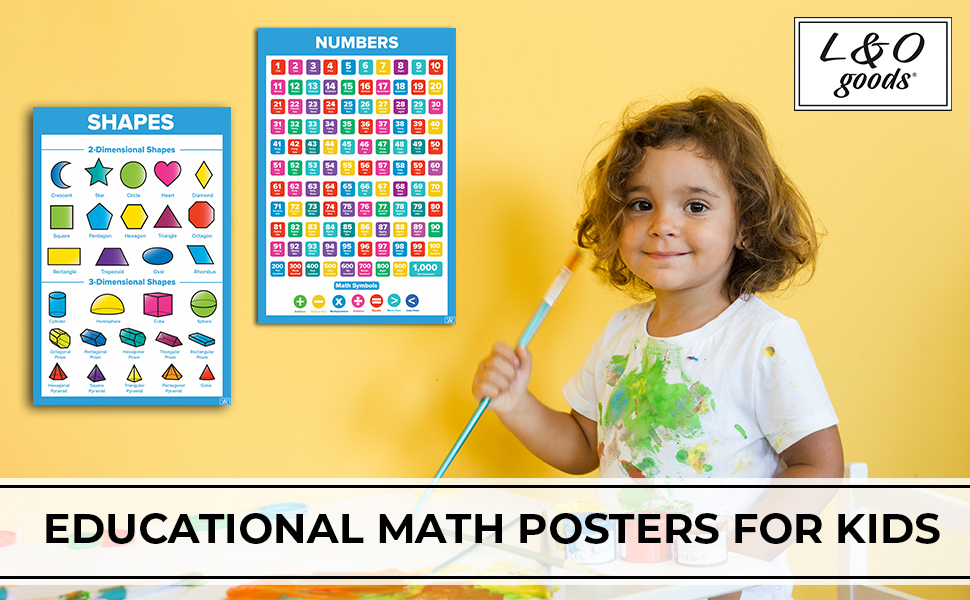Math poster kid educational toddler teacher wall decor numbers multiplication table chart