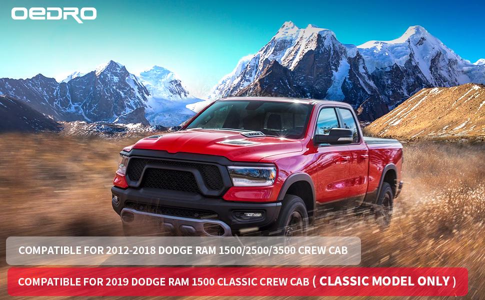 oEdRo Floor Mats Compatible for 2012-2018 Dodge Ram 1500/2500/3500 Crew Cab