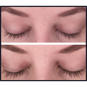 Plume Lash and Brow Serum Before and After